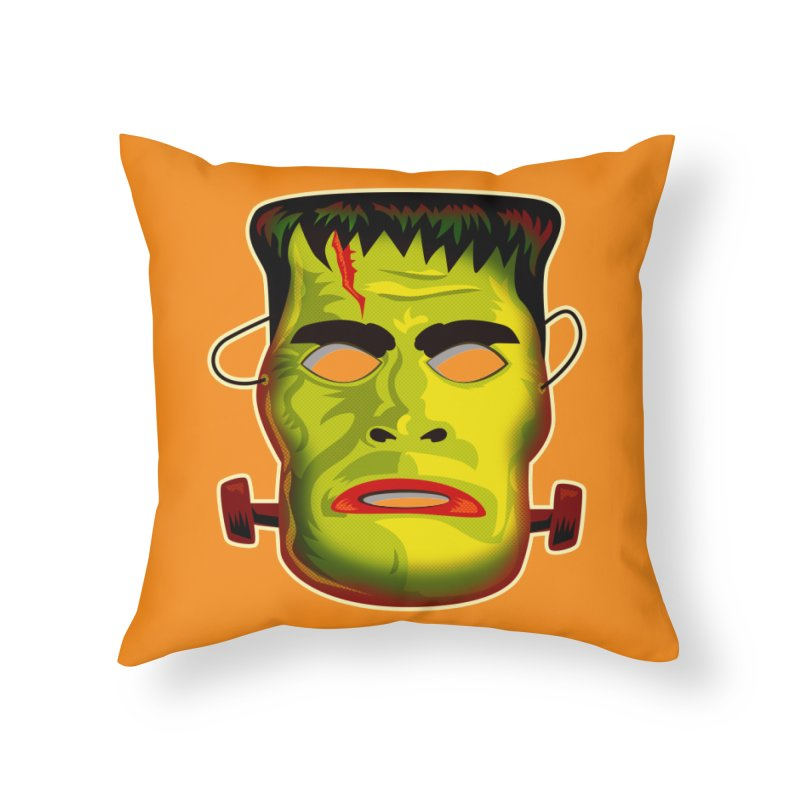 Monster Mask Home Throw Pillow by Zerostreet's Artist Shop