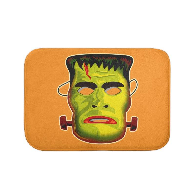 Monster Mask Home Bath Mat by Zerostreet's Artist Shop