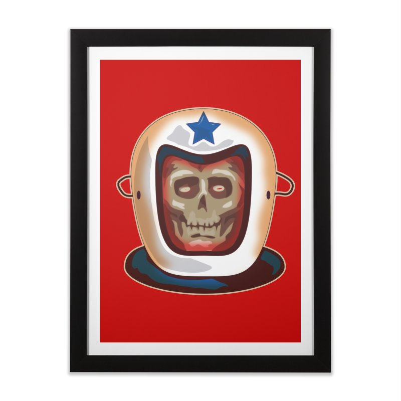 Astro Skull Home Framed Fine Art Print by Zerostreet's Artist Shop