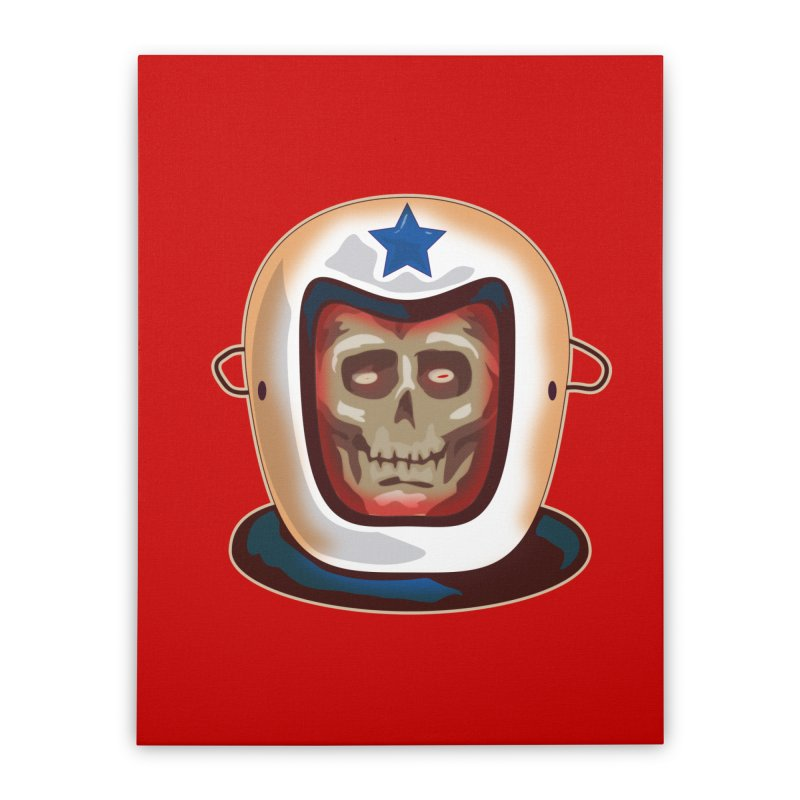 Astro Skull Home Stretched Canvas by Zerostreet's Artist Shop