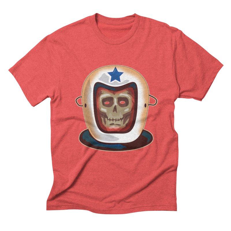 Astro Skull Men's Triblend T-Shirt by Zerostreet's Artist Shop