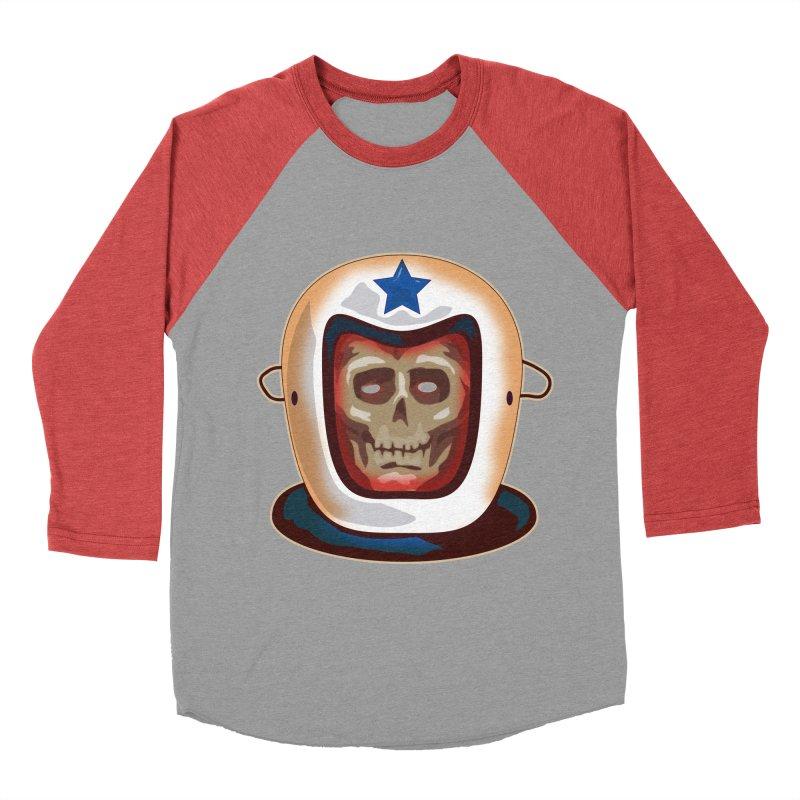 Astro Skull Men's Baseball Triblend T-Shirt by Zerostreet's Artist Shop