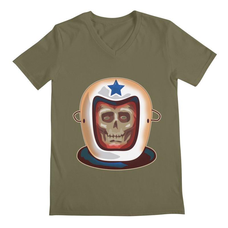 Astro Skull Men's V-Neck by Zerostreet's Artist Shop