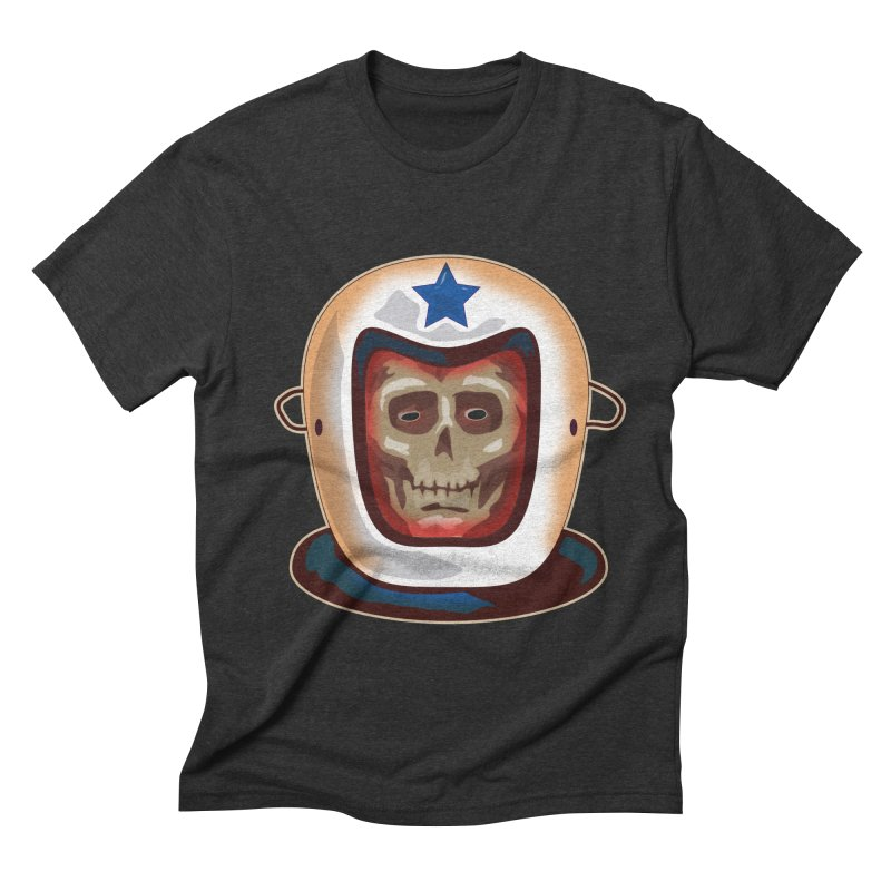Astro Skull Men's Triblend T-shirt by Zerostreet's Artist Shop