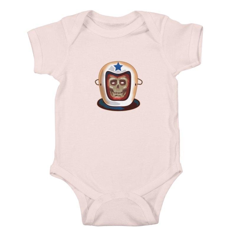 Astro Skull Kids Baby Bodysuit by Zerostreet's Artist Shop