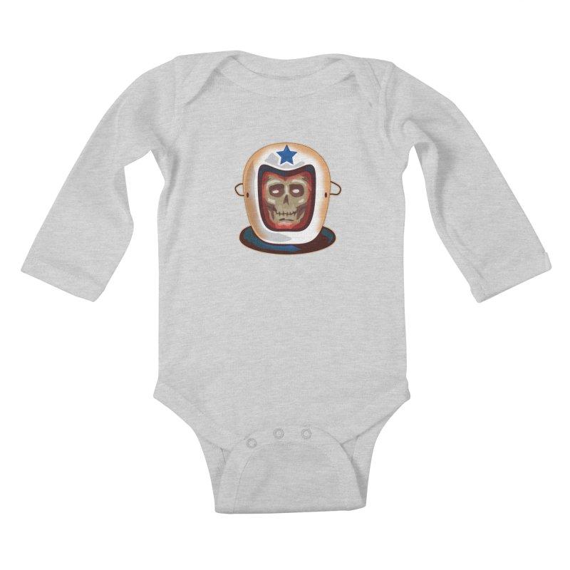 Astro Skull Kids Baby Longsleeve Bodysuit by Zerostreet's Artist Shop