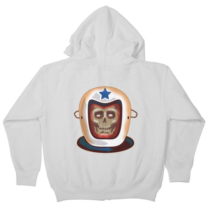 Astro Skull Kids Zip-Up Hoody by Zerostreet's Artist Shop
