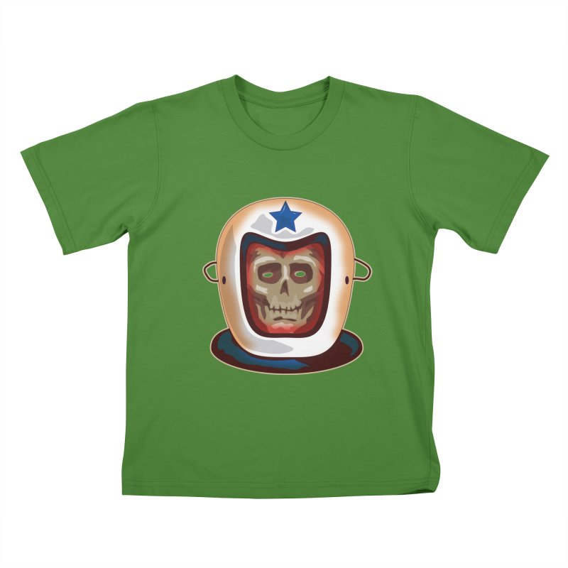 Astro Skull Kids T-shirt by Zerostreet's Artist Shop