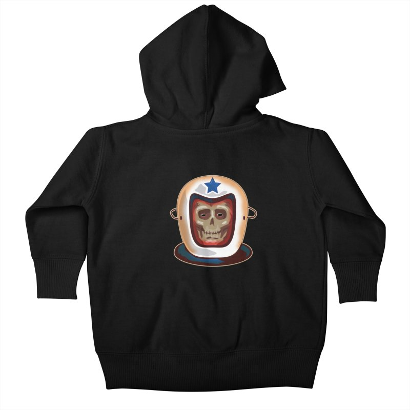 Astro Skull Kids Baby Zip-Up Hoody by Zerostreet's Artist Shop