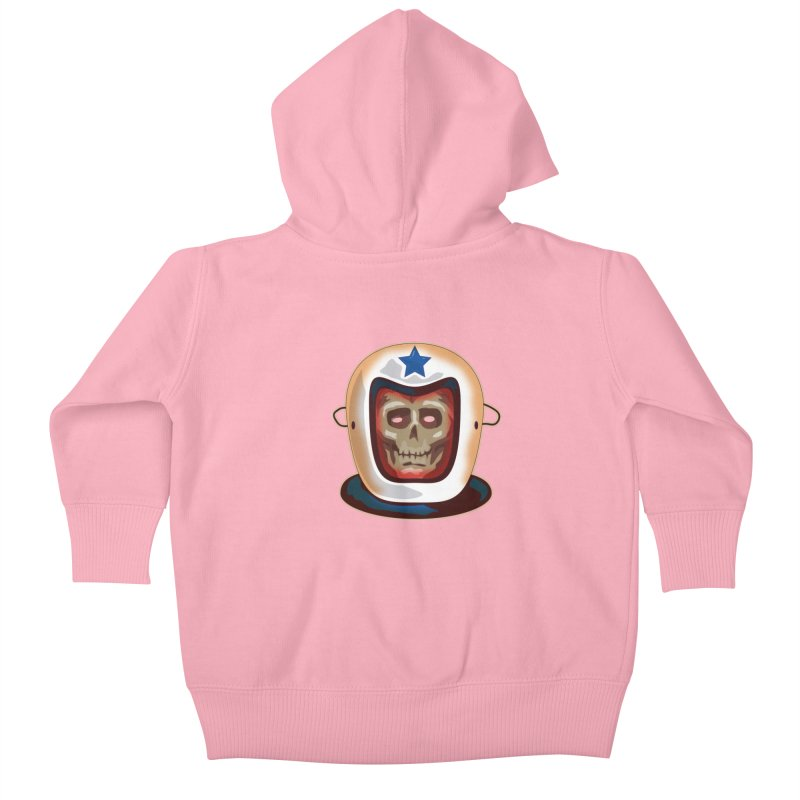 Astro Skull Kids Baby Zip-Up Hoody by Zerostreet's Artist Shop