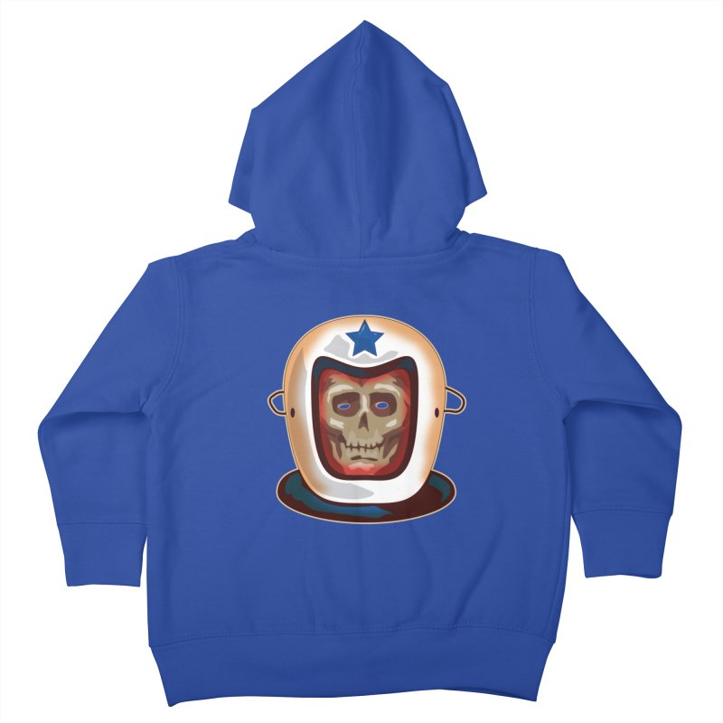 Astro Skull Kids Toddler Zip-Up Hoody by Zerostreet's Artist Shop