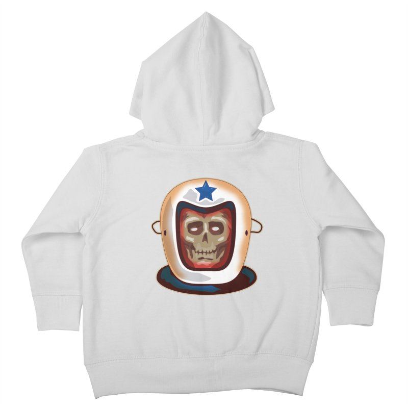 Astro Skull Kids Toddler Zip-Up Hoody by Zerostreet's Artist Shop