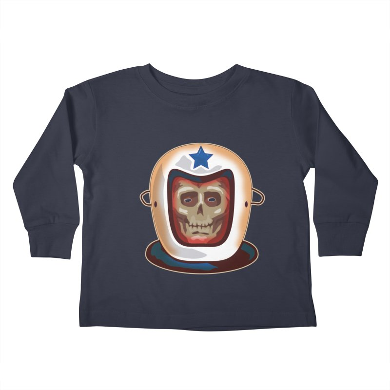 Astro Skull Kids Toddler Longsleeve T-Shirt by Zerostreet's Artist Shop