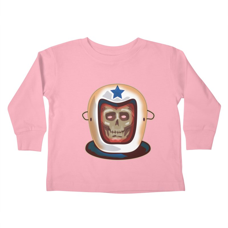 Astro Skull Kids Toddler Longsleeve T-Shirt by Zerostreet's Artist Shop