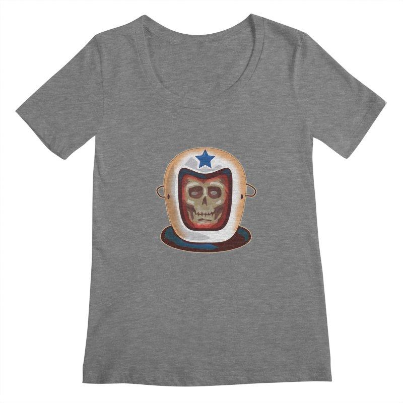 Astro Skull Women's Scoopneck by Zerostreet's Artist Shop