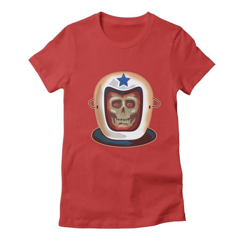 Astro Skull Women's Fitted T-Shirt by Zerostreet's Artist Shop