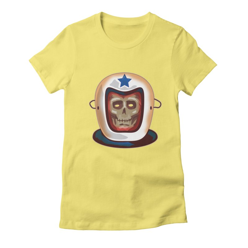 Astro Skull Women's Fitted T-Shirt by Zerostreet's Artist Shop