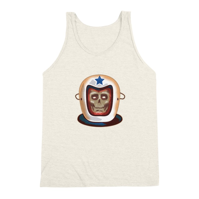 Astro Skull Men's Triblend Tank by Zerostreet's Artist Shop