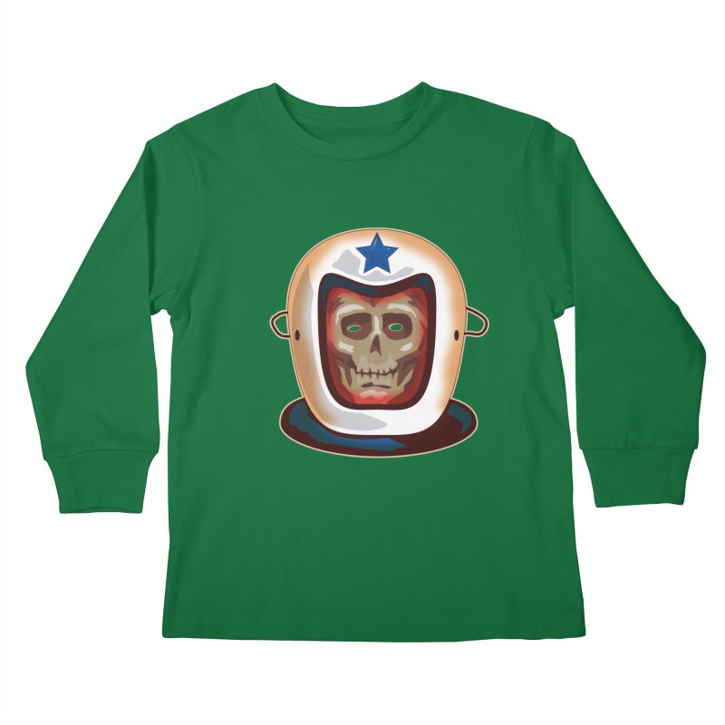 Astro Skull Kids Longsleeve T-Shirt by Zerostreet's Artist Shop