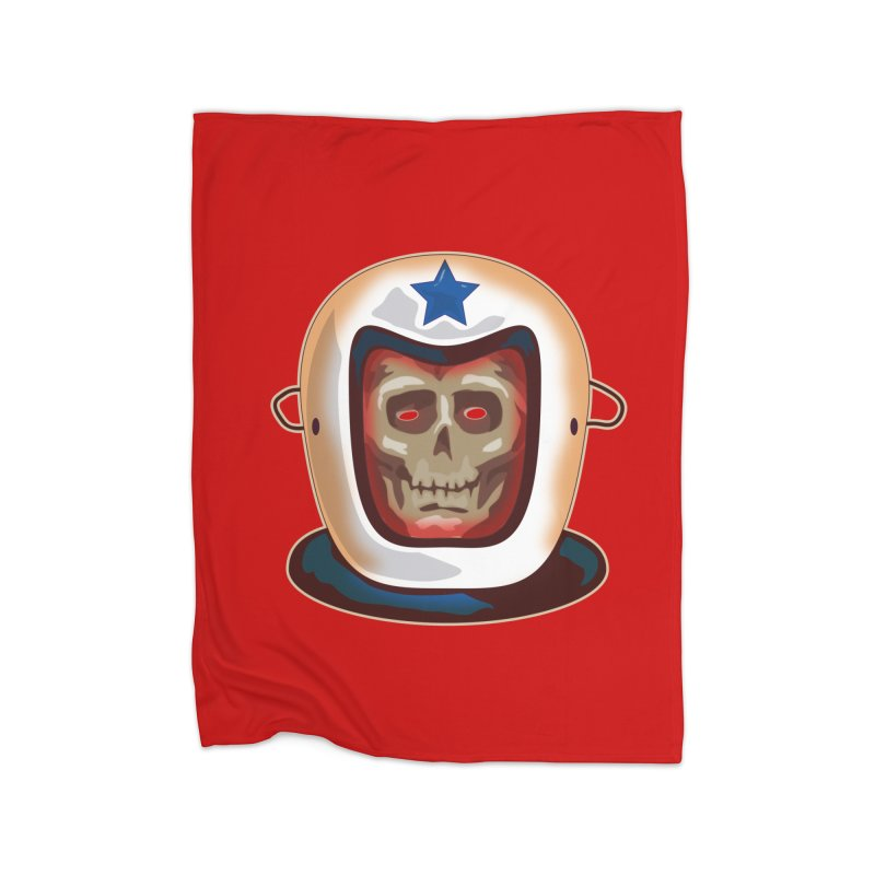Astro Skull Home Fleece Blanket by Zerostreet's Artist Shop