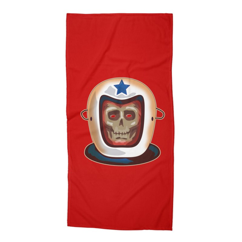 Astro Skull Accessories Beach Towel by Zerostreet's Artist Shop
