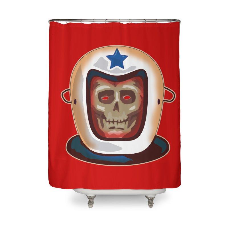 Astro Skull Home Shower Curtain by Zerostreet's Artist Shop
