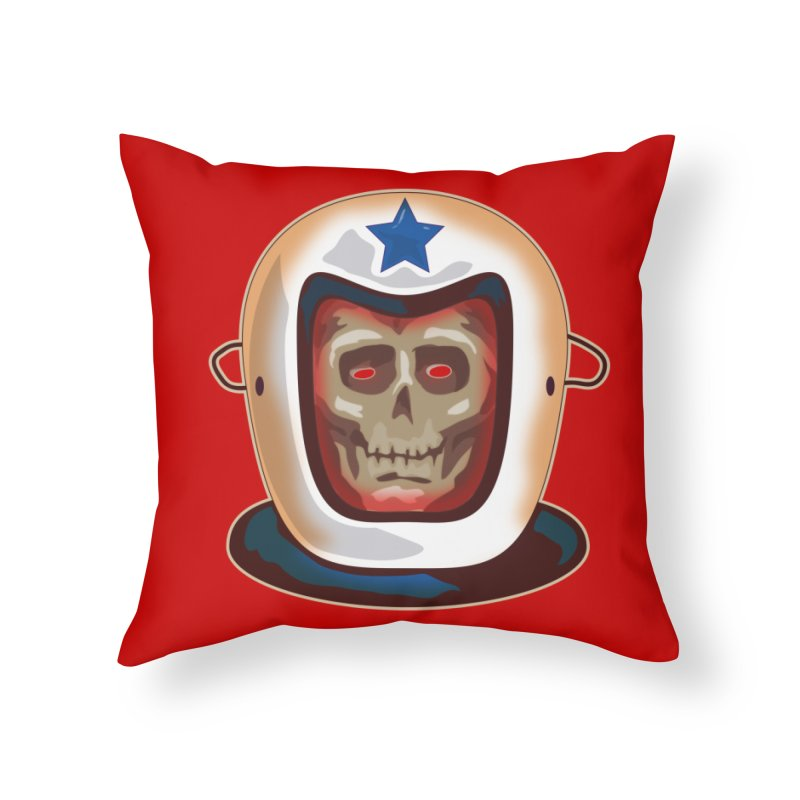 Astro Skull Home Throw Pillow by Zerostreet's Artist Shop