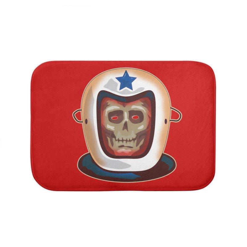 Astro Skull Home Bath Mat by Zerostreet's Artist Shop
