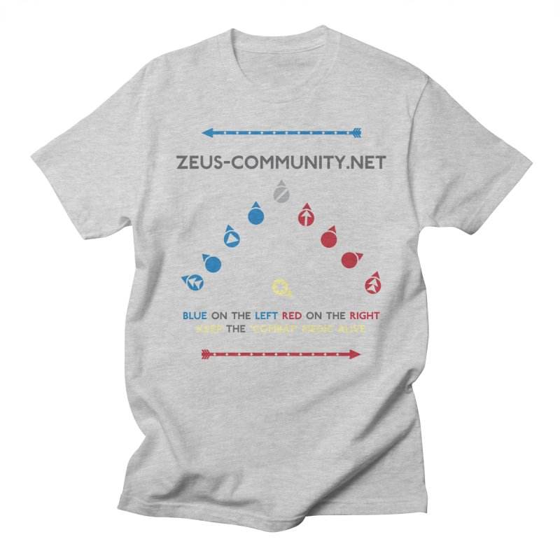 Blue Left in Men's Regular T-Shirt Heather Grey by Zeus Community Store