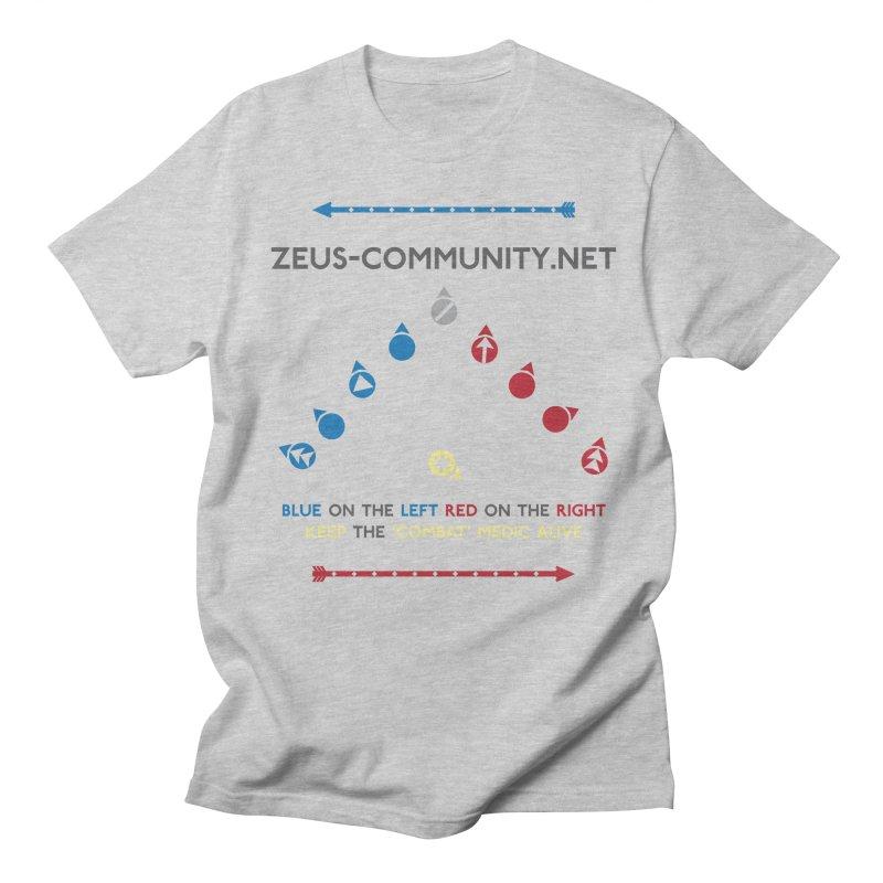 Blue Left in Men's Regular T-Shirt Heather Grey by Zeus Community Store