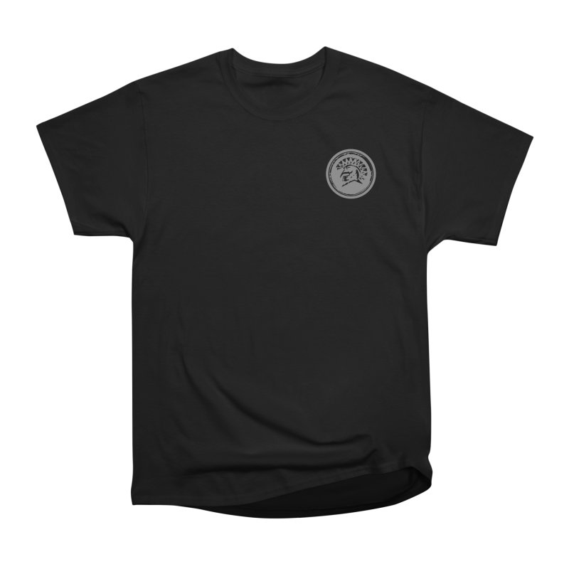 Zeus Circle Black Logo in Men's Heavyweight T-Shirt Black by Zeus Community Store