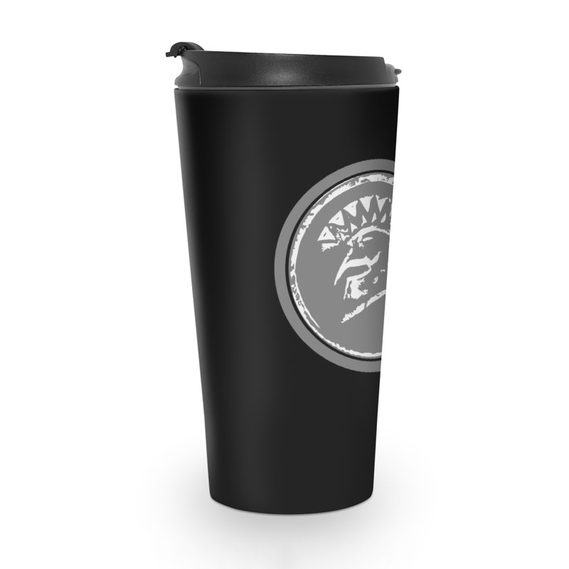 Zeus Circle White Logo in Travel Mug by Zeus Community Store