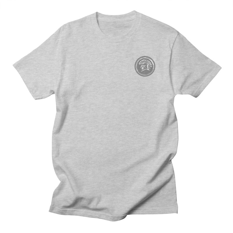 Zeus Circle White Logo in Men's Regular T-Shirt Heather Grey by Zeus Community Store