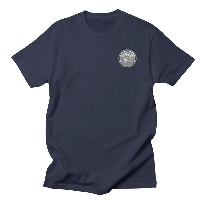 Zeus Circle White Logo in Men's Regular T-Shirt Navy by Zeus Community Store