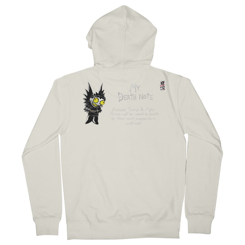 Deathnote for Trump and Pence Men's Zip-Up Hoody by Zheph Skyre