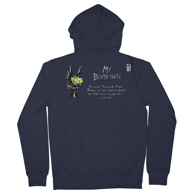 Deathnote for Trump and Pence Men's French Terry Zip-Up Hoody by Zheph Skyre