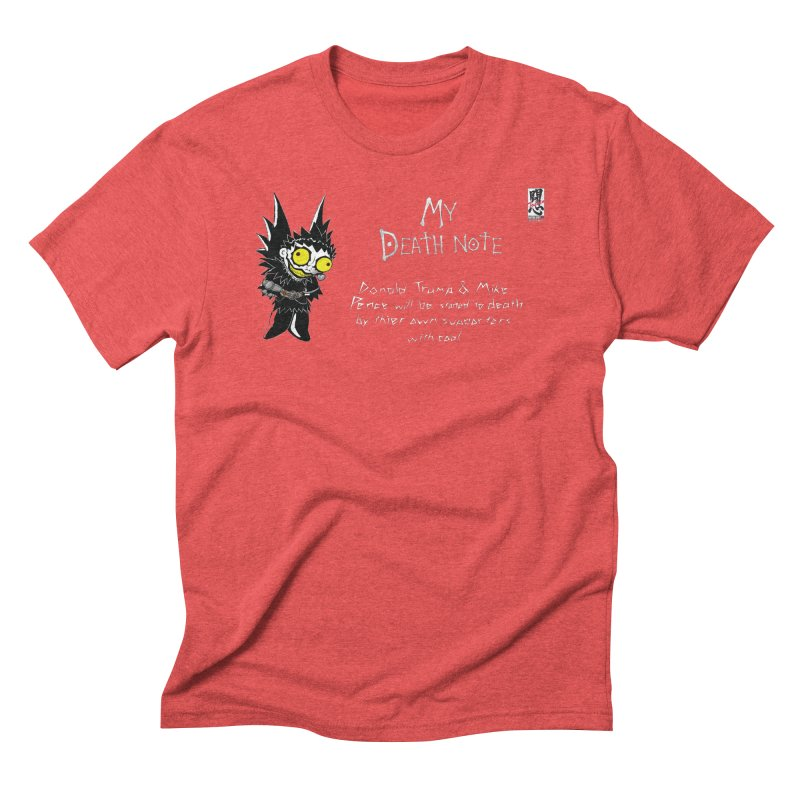 Deathnote for Trump and Pence Men's Triblend T-Shirt by Zheph Skyre