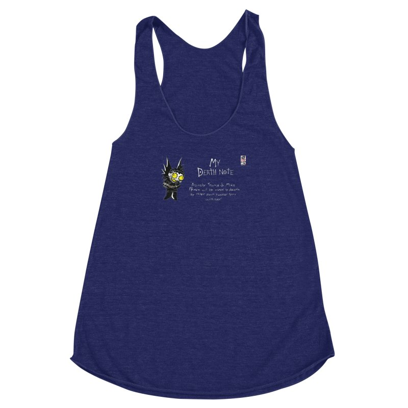 Deathnote for Trump and Pence Women's Racerback Triblend Tank by zhephskyre's Artist Shop