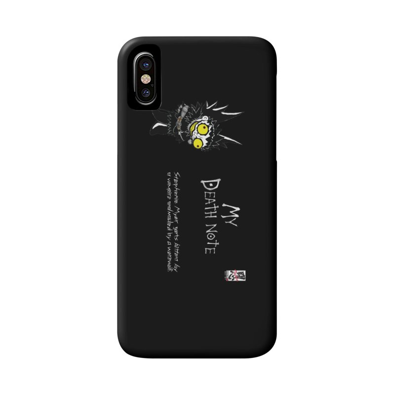 Stephanie Myer Deathnote Accessories Phone Case by zhephskyre's Artist Shop