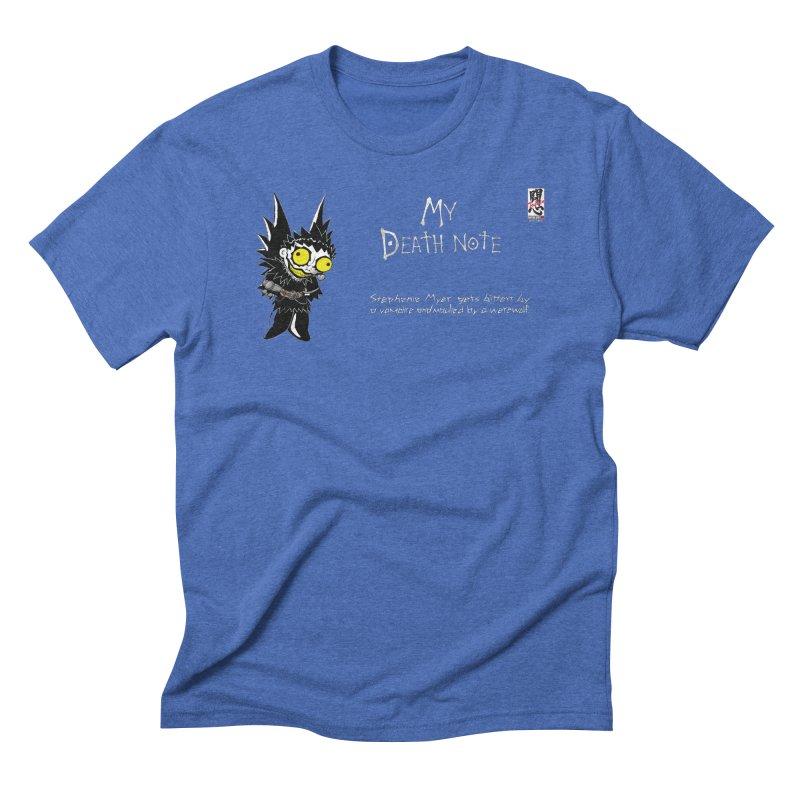 Stephanie Myer Deathnote Men's Triblend T-Shirt by zhephskyre's Artist Shop