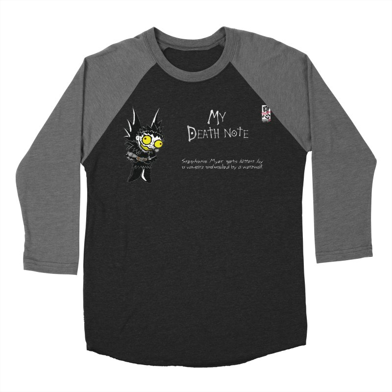 Stephanie Myer Deathnote Men's Baseball Triblend Longsleeve T-Shirt by zhephskyre's Artist Shop