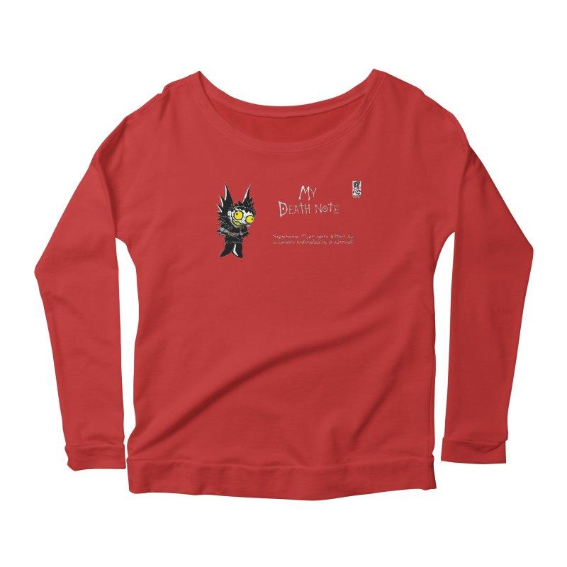 Stephanie Myer Deathnote Women's Scoop Neck Longsleeve T-Shirt by zhephskyre's Artist Shop