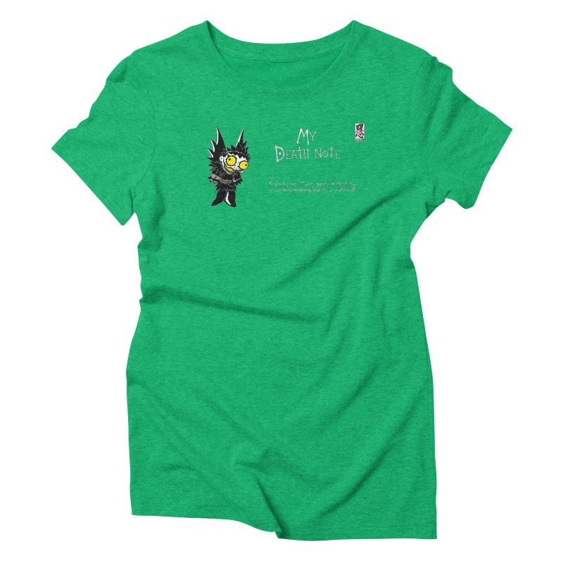 Stephanie Myer Deathnote Women's Triblend T-Shirt by zhephskyre's Artist Shop