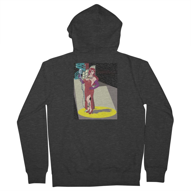 Jessica Rabbit Women's French Terry Zip-Up Hoody by zhephskyre's Artist Shop