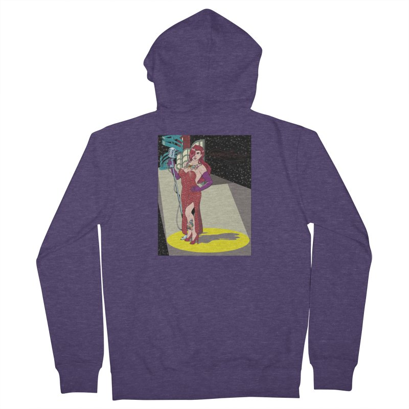 Jessica Rabbit Men's French Terry Zip-Up Hoody by Zheph Skyre