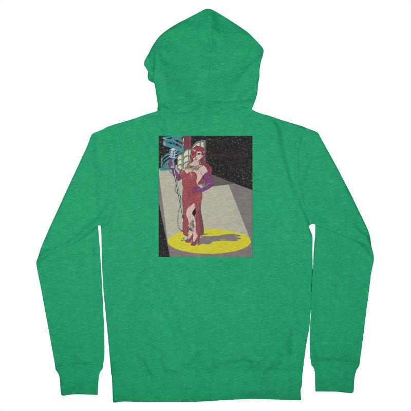 Jessica Rabbit Men's Zip-Up Hoody by Zheph Skyre