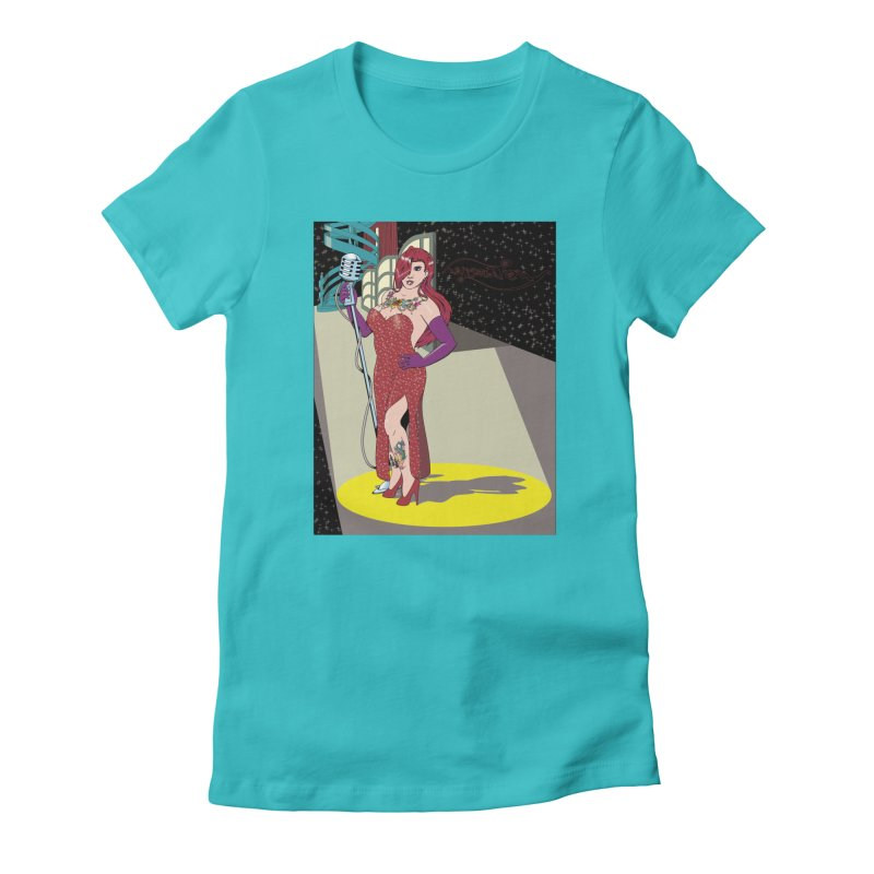 Jessica Rabbit Women's Fitted T-Shirt by Zheph Skyre