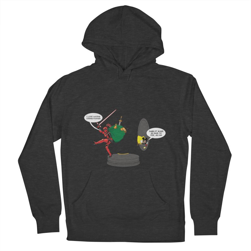 Deadpool at Disney! Women's French Terry Pullover Hoody by Zheph Skyre