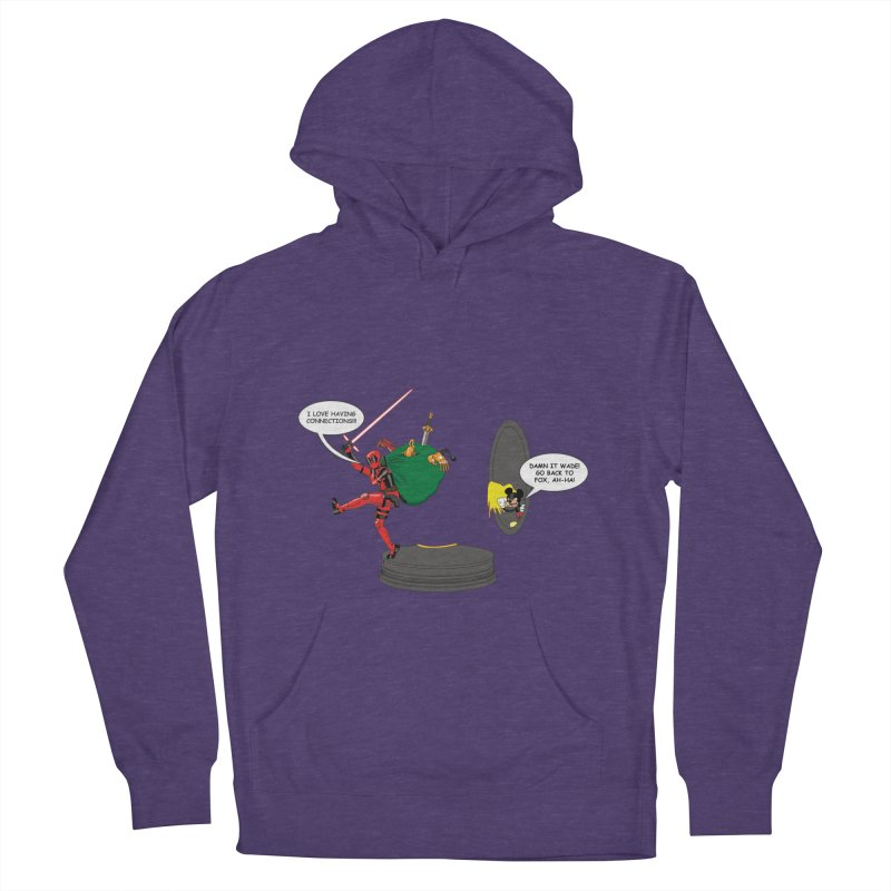 Deadpool at Disney! Women's French Terry Pullover Hoody by zhephskyre's Artist Shop