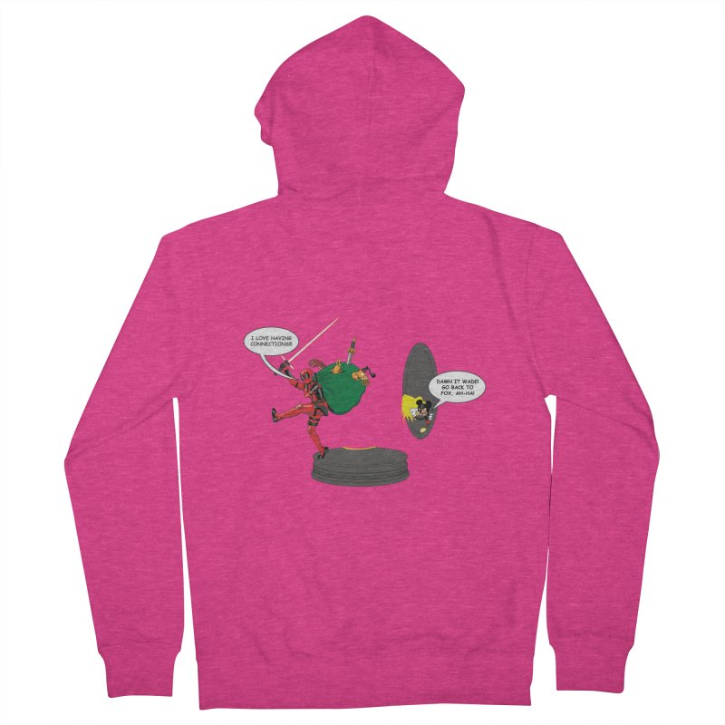 Deadpool at Disney! Women's French Terry Zip-Up Hoody by zhephskyre's Artist Shop